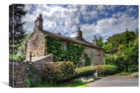 Nestling Cottage - Downham, Lancashire, Canvas Print
