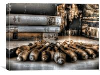Bobbins & Books, Canvas Print
