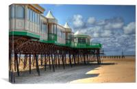 St Annes Pier End, Lytham, Canvas Print