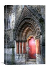 College Door - Oxford, Canvas Print