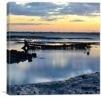 Wreck of 'The Langstone', Canvas Print