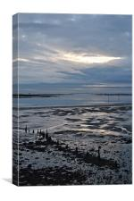 Chichester harbour low water, Canvas Print