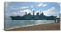 HMS Illustrious arrives home, Canvas Print