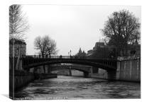 Bridges in Paris, Canvas Print