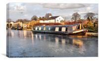 Lancaster canal, Canvas Print
