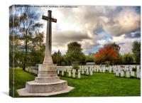 La Brique Military Cemetary., Canvas Print