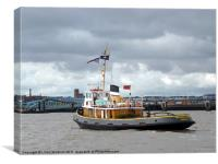 Brocklebank Tugboat, Canvas Print