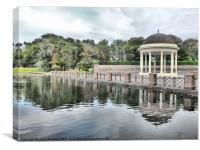 The Bandstand., Canvas Print