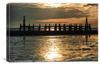 The Old St Annes Pier., Canvas Print