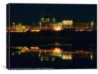 Blackpool Illuminations., Canvas Print