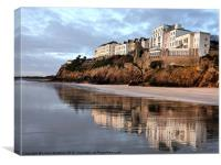 Reflections of Tenby., Canvas Print