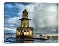 The Beach Lighthouse., Canvas Print