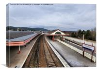 Aviemore Railway Station., Canvas Print