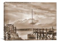 Skippool Creek in Sepia, Canvas Print