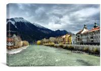 The Inn River-Innsbruck., Canvas Print