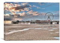 Central Pier-Blackpool, Canvas Print