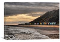 Beach Huts at Cromer, Canvas Print