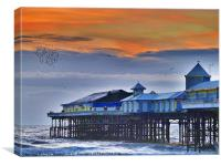 Starlings over Central Pier., Canvas Print