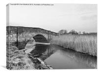 Road bridge at Thurnham., Canvas Print
