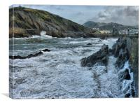 Rough Seas Illfracombe.(2), Canvas Print