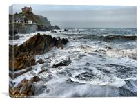 Rough Seas at Illfracombe (3), Canvas Print