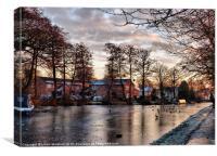 Frozen Garstang Canal, Canvas Print