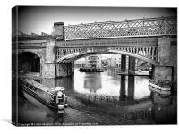 Castlefield Railway Viaduct., Canvas Print
