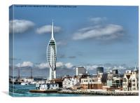 Spinnaker Tower ., Canvas Print