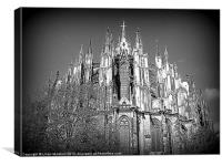 The many spires of Cologne Dome, Canvas Print