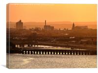 Sunset Over Hull., Canvas Print