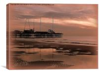 South Pier at Sunset, Canvas Print