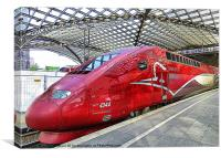 Thalys High Speed Train., Canvas Print