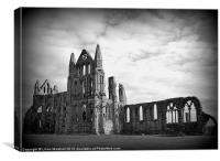 Whitby Abbey., Canvas Print