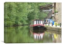 The Rochdale Canal., Canvas Print