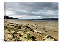 The Beach at Arnside., Canvas Print
