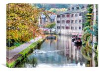 Autumn at Hebden Bridge., Canvas Print
