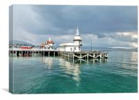 Dunoon Pier., Canvas Print