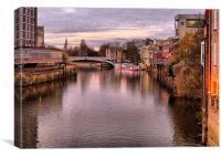 Lendal Bridge -York., Canvas Print