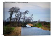 Lancaster Canal., Canvas Print