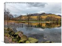 Buttermere Lake ., Canvas Print