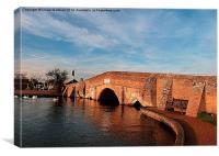 Medieval Bridge at Potters Higham, Canvas Print