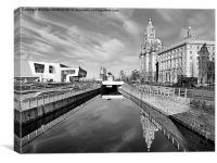 Liverpool Pier Head., Canvas Print