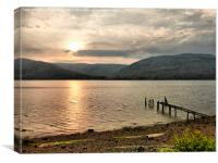 Sunset over Loch Linnhe., Canvas Print