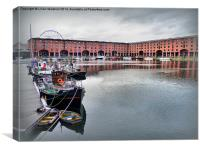 Albert Dock., Canvas Print