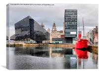 Canning Dock., Canvas Print