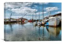 Glasson Dock, Canvas Print