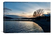 Sunset over Lake Coniston., Canvas Print