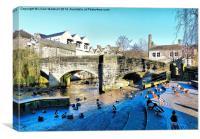 The Packhorse Bridge . , Canvas Print