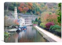Autumn at Hebden., Canvas Print