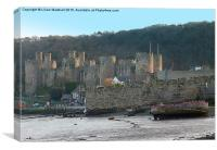 Conway Castle. , Canvas Print